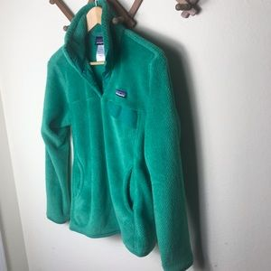 Patagonia Green Re-Tool Snap-T Fleece Pullover